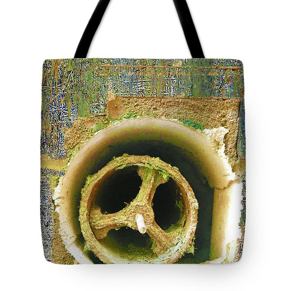Tote Bag featuring the mixed media Crank by Tony Rubino