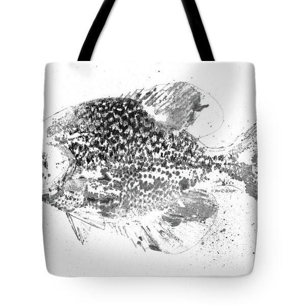 Crappie Abstract Tote Bag