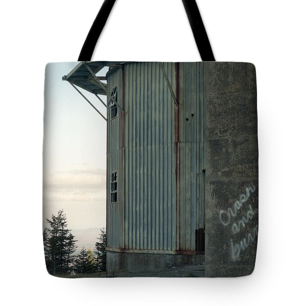 Crash And Burn Tote Bag by Richard Rizzo