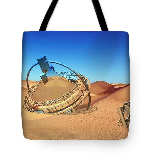 Crash Space Craft In The Desert Tote Bag