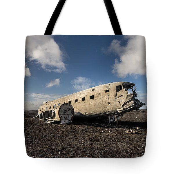 Tote Bag featuring the photograph Crashed Dc-3 by James Billings