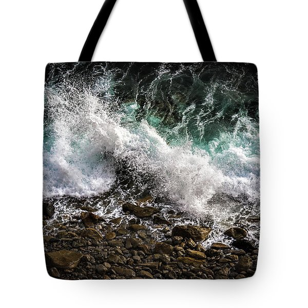 Tote Bag featuring the photograph Crashing Surf by Jason Roberts