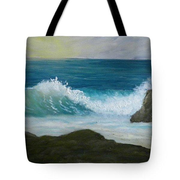 Crashing Wave 3 Tote Bag