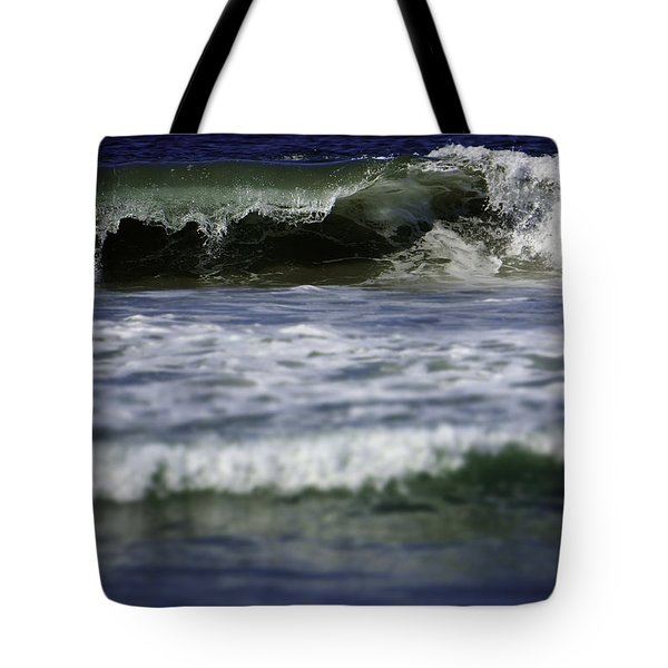 Tote Bag featuring the photograph Crashing Wave by Brad Wenskoski