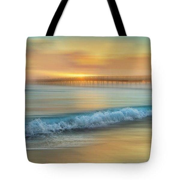 Crashing Waves At Sunrise Dreamscape Tote Bag