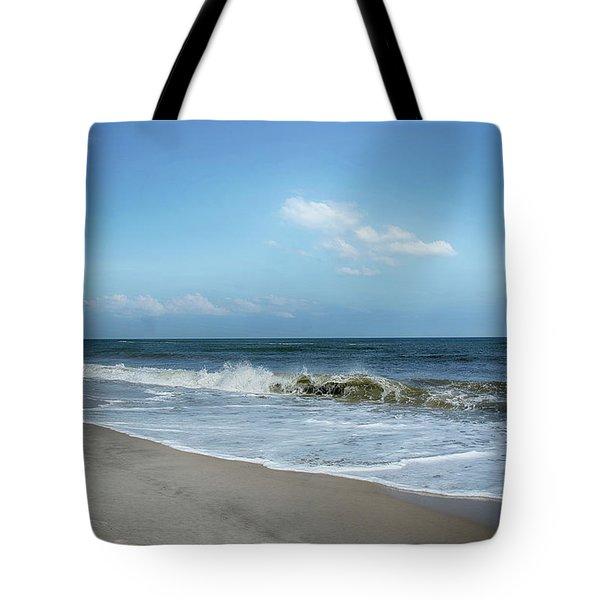 Crashing Waves Tote Bag by Judy Hall-Folde