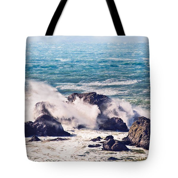 Tote Bag featuring the photograph Crashing Waves by Kim Wilson
