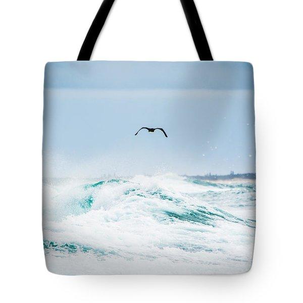 Crashing Waves Tote Bag by Parker Cunningham