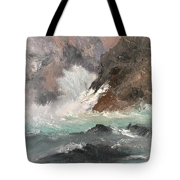Crashing Waves Seascape Art Tote Bag
