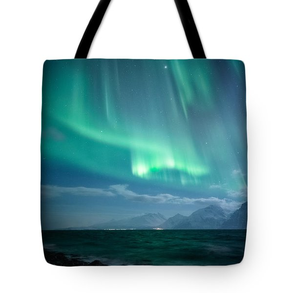 Crashing Waves Tote Bag by Tor-Ivar Naess