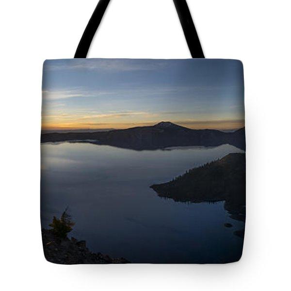 Crater Lake At Sunrise Tote Bag