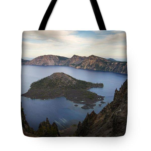 Crater Lake At Sunset Tote Bag