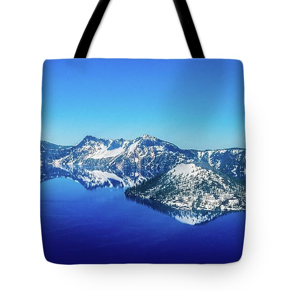 Tote Bag featuring the photograph Crater Lake Blue by Jonny D