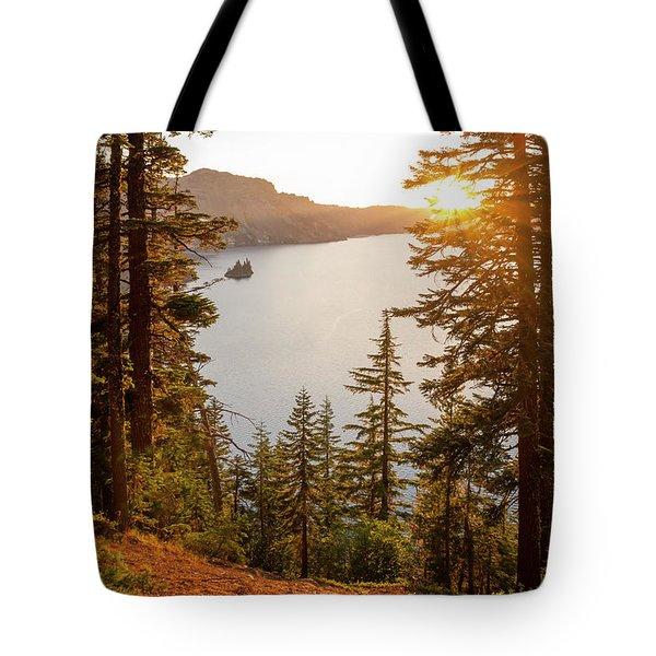 Crater Lake Tote Bag by Brian Harig