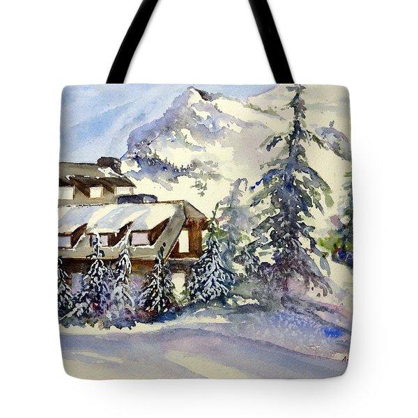 Crater Lake Lodge - Closed For Winter    Tote Bag