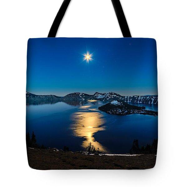Crater Lake Moonlight Tote Bag