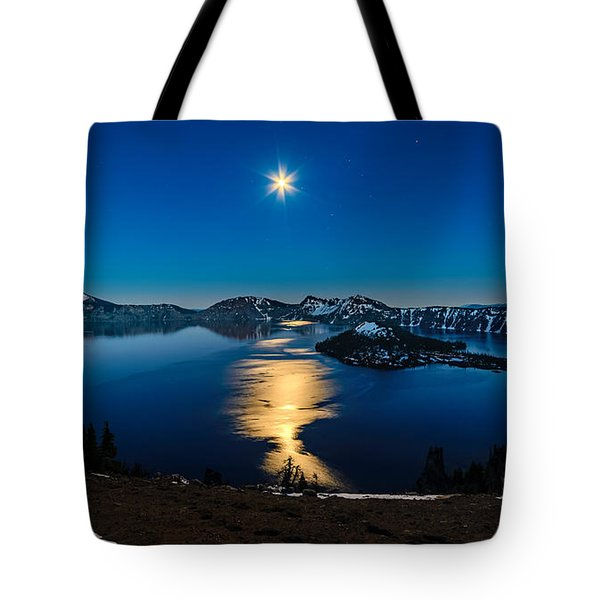 Crater Lake Moonlight Tote Bag