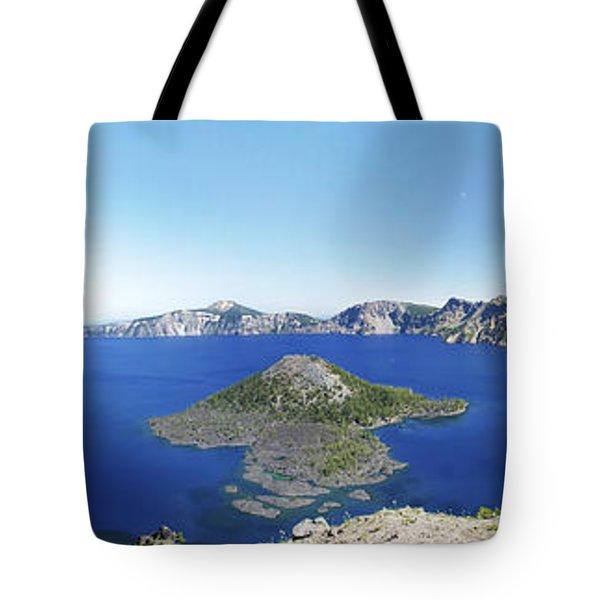 Crater Lake Panoramic Tote Bag