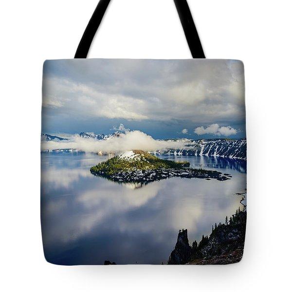 Crater Lake Storm Tote Bag