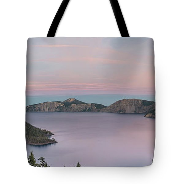 Crater Lake Sunset Tote Bag