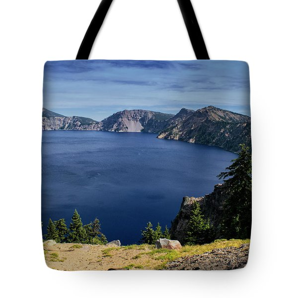 Tote Bag featuring the photograph Crater Lake View by Frank Wilson