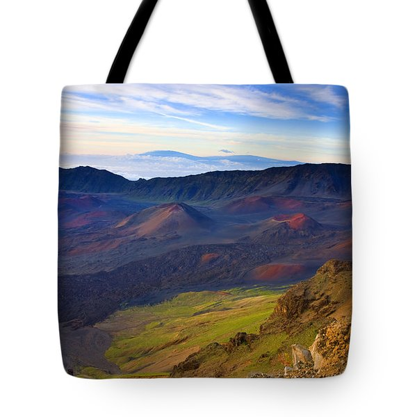 Craters Of Paradise Tote Bag by Mike  Dawson