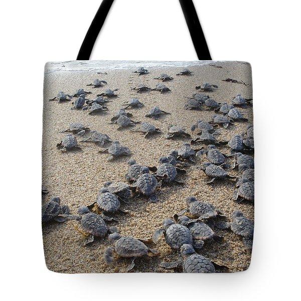 Crawl To The Ocean Tote Bag