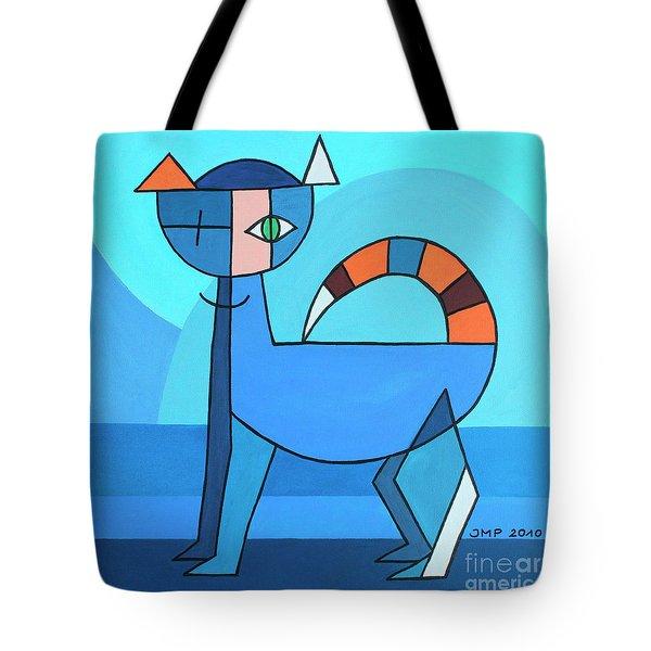 Crazy Cat Tote Bag by Jutta Maria Pusl