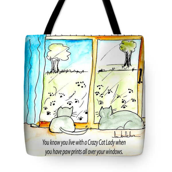Crazy Cat Lady 0010 Tote Bag