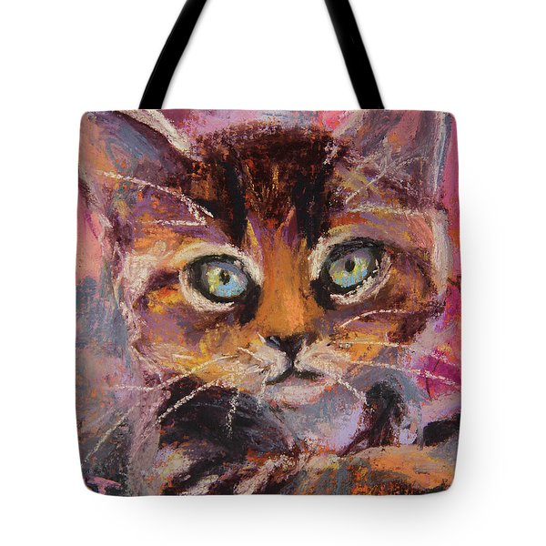 Crazy Cat Tabby  Tote Bag
