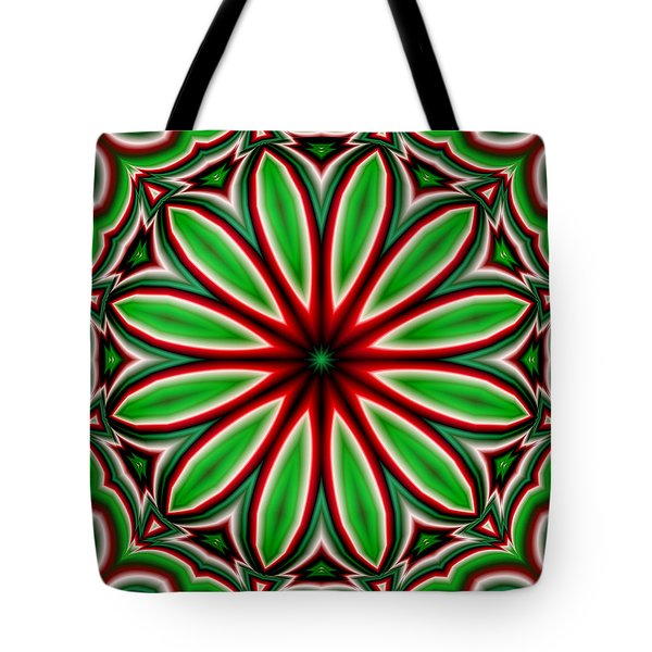 Crazy Christmas Flower Tote Bag