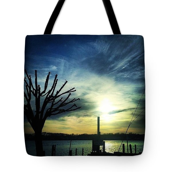 Crazy Clouds Tote Bag by Lauren Fitzpatrick