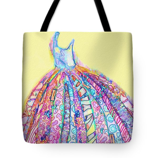 Crazy Color Dress Tote Bag