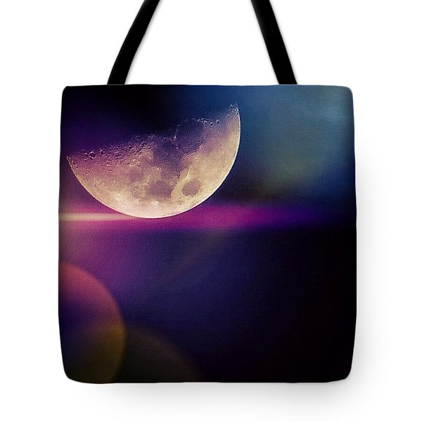 #crazy #colorful #fun #moon And The Tote Bag