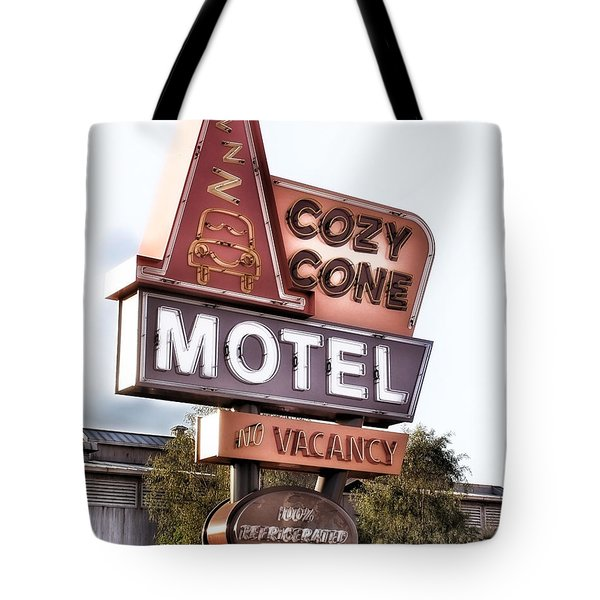 Crazy Cone Motel Vintage Neon Sign Tote Bag