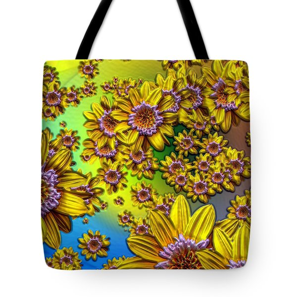Crazy Daisies Tote Bag