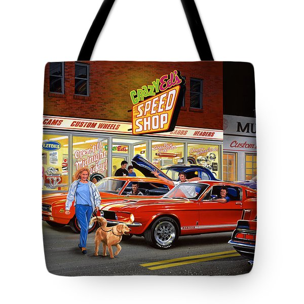 Crazy Eds Tote Bag by Bruce Kaiser