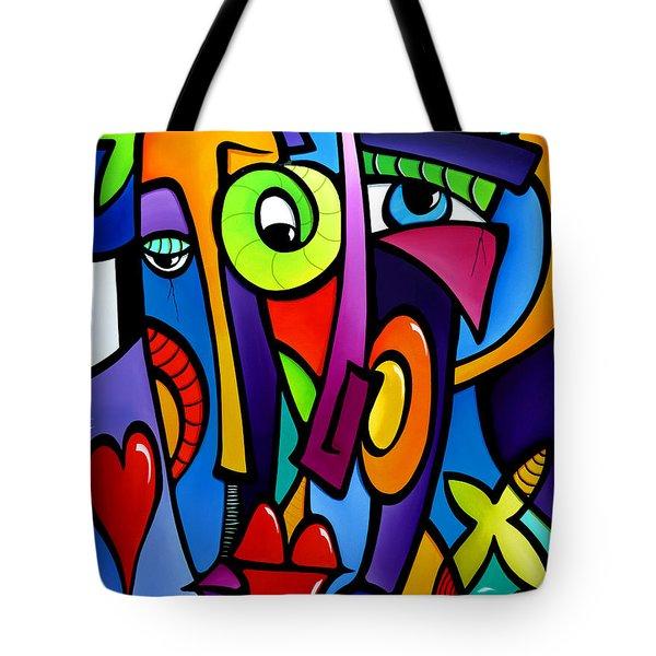 Crazy Hearts Tote Bag