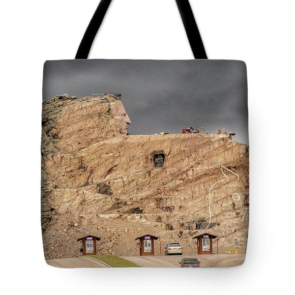 ...entrance Crazy Horse Memorial South Dakota.... Tote Bag