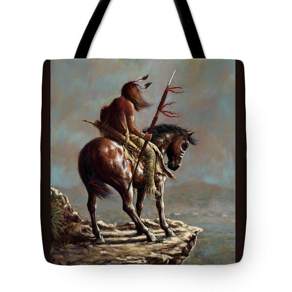 Crazy Horse_digital Study Tote Bag by Harvie Brown