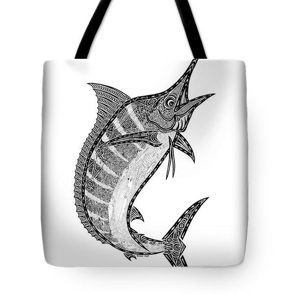 Crazy Marlin Tote Bag by Carol Lynne