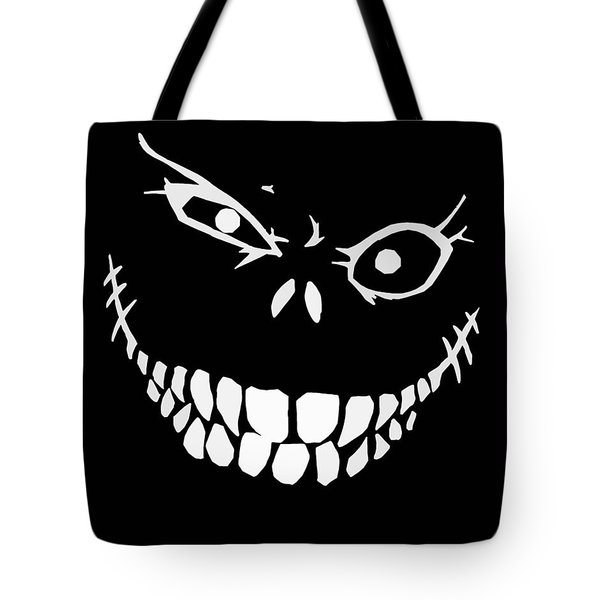 Crazy Monster Grin Tote Bag