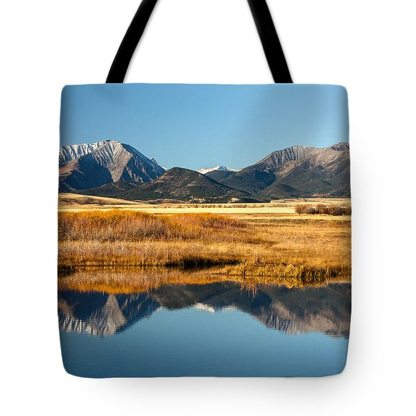 Tote Bag featuring the photograph Crazy Mountain Reflections by Todd Klassy