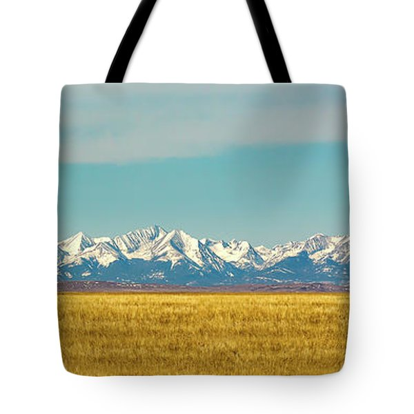 Crazy Mountains And Plains Tote Bag