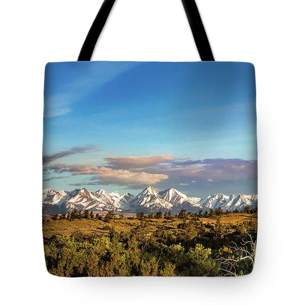 Crazy Mountains Tote Bag