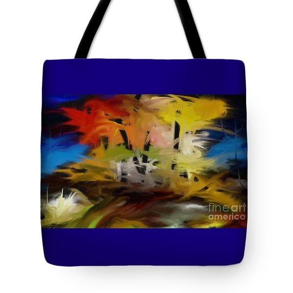 Tote Bag featuring the painting Crazy Nature by Rushan Ruzaick