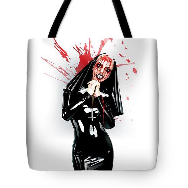 Crazy Nun Tote Bag