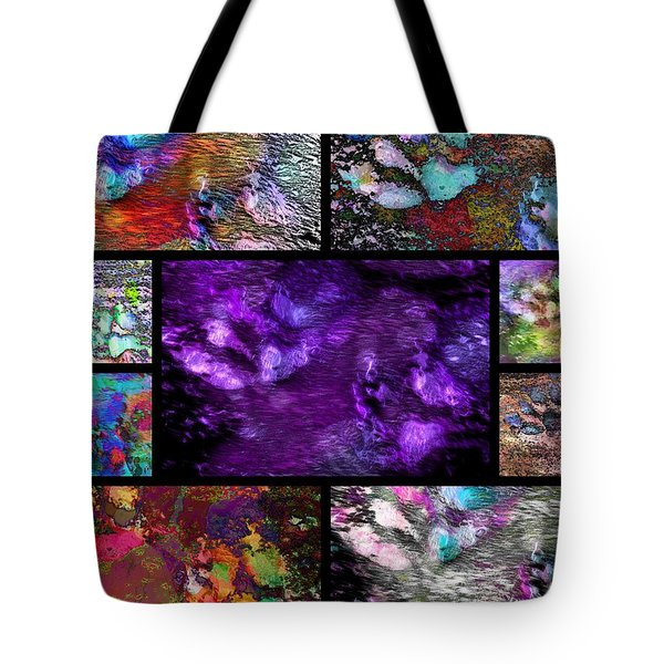 Crazy Paw Print Collage Tote Bag