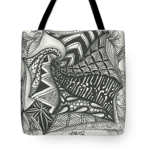 Crazy Spiral Tote Bag by Jan Steinle