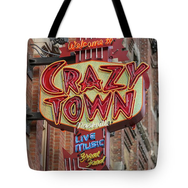 Tote Bag featuring the photograph Crazy Town by Stephen Stookey